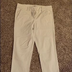 Loft - Modern Chino Crop Pants Tan